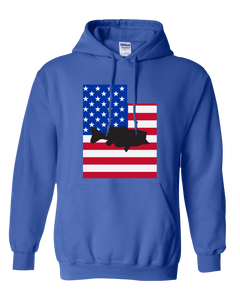 Pullover Hooded Sweatshirt Utah Royal Large Mouth Bass Vibrant Design High Quality Tight Knit Ring Spun Low Maintenance Cotton Printed With The Newest Available Color Transfer Technology