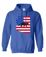 Load image into Gallery viewer, Pullover Hooded Sweatshirt Arizona Royal Mountain Lion Vibrant Design High Quality Tight Knit Ring Spun Low Maintenance Cotton Printed With The Newest Available Color Transfer Technology