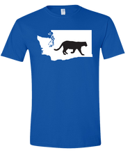Load image into Gallery viewer, Short Sleeve T-Shirt Washington Royal Mountain Lion Vibrant Design High Quality Tight Knit Ring Spun Low Maintenance Cotton Printed With The Newest Available Color Transfer Technology