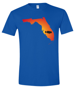 Short Sleeve T-Shirt Florida Royal Large Mouth Bass Vibrant Design High Quality Tight Knit Ring Spun Low Maintenance Cotton Printed With The Newest Available Color Transfer Technology