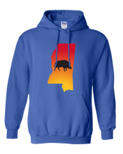 Load image into Gallery viewer, Pullover Hooded Sweatshirt Mississippi Royal Wild Hog Vibrant Design High Quality Tight Knit Ring Spun Low Maintenance Cotton Printed With The Newest Available Color Transfer Technology