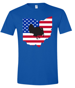Short Sleeve T-Shirt Ohio Royal Turkey Vibrant Design High Quality Tight Knit Ring Spun Low Maintenance Cotton Printed With The Newest Available Color Transfer Technology
