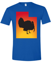 Load image into Gallery viewer, Short Sleeve T-Shirt Utah Royal Turkey Vibrant Design High Quality Tight Knit Ring Spun Low Maintenance Cotton Printed With The Newest Available Color Transfer Technology