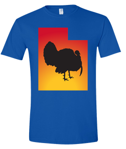 Short Sleeve T-Shirt Utah Royal Turkey Vibrant Design High Quality Tight Knit Ring Spun Low Maintenance Cotton Printed With The Newest Available Color Transfer Technology