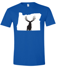 Load image into Gallery viewer, Short Sleeve T-Shirt Oregon Royal Mule Deer Vibrant Design High Quality Tight Knit Ring Spun Low Maintenance Cotton Printed With The Newest Available Color Transfer Technology