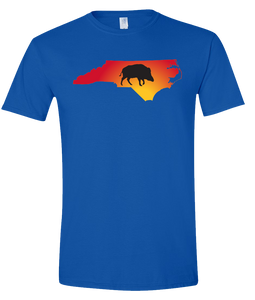 Short Sleeve T-Shirt North Carolina Royal Wild Hog Vibrant Design High Quality Tight Knit Ring Spun Low Maintenance Cotton Printed With The Newest Available Color Transfer Technology