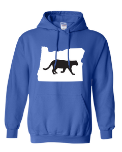 Pullover Hooded Sweatshirt Oregon Royal Mountain Lion Vibrant Design High Quality Tight Knit Ring Spun Low Maintenance Cotton Printed With The Newest Available Color Transfer Technology