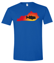 Load image into Gallery viewer, Short Sleeve T-Shirt Kentucky Royal Large Mouth Bass Vibrant Design High Quality Tight Knit Ring Spun Low Maintenance Cotton Printed With The Newest Available Color Transfer Technology