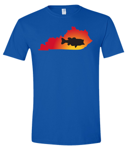 Short Sleeve T-Shirt Kentucky Royal Large Mouth Bass Vibrant Design High Quality Tight Knit Ring Spun Low Maintenance Cotton Printed With The Newest Available Color Transfer Technology