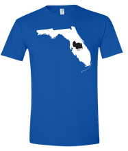 Load image into Gallery viewer, Short Sleeve T-Shirt Florida Royal Turkey Vibrant Design High Quality Tight Knit Ring Spun Low Maintenance Cotton Printed With The Newest Available Color Transfer Technology