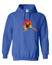 Load image into Gallery viewer, Pullover Hooded Sweatshirt Alaska Royal Moose Vibrant Design High Quality Tight Knit Ring Spun Low Maintenance Cotton Printed With The Newest Available Color Transfer Technology