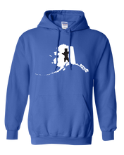 Load image into Gallery viewer, Pullover Hooded Sweatshirt Alaska Royal Brown Bear Vibrant Design High Quality Tight Knit Ring Spun Low Maintenance Cotton Printed With The Newest Available Color Transfer Technology