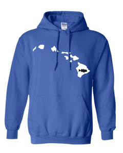Pullover Hooded Sweatshirt Hawaii Royal Large Mouth Bass Vibrant Design High Quality Tight Knit Ring Spun Low Maintenance Cotton Printed With The Newest Available Color Transfer Technology