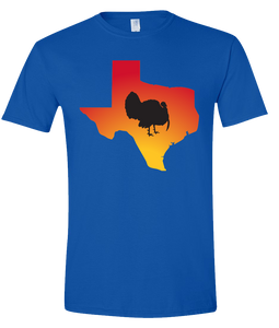 Short Sleeve T-Shirt Texas Royal Turkey Vibrant Design High Quality Tight Knit Ring Spun Low Maintenance Cotton Printed With The Newest Available Color Transfer Technology