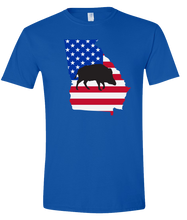 Load image into Gallery viewer, Short Sleeve T-Shirt Georgia Royal Wild Hog Vibrant Design High Quality Tight Knit Ring Spun Low Maintenance Cotton Printed With The Newest Available Color Transfer Technology