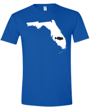 Load image into Gallery viewer, Short Sleeve T-Shirt Florida Royal Large Mouth Bass Vibrant Design High Quality Tight Knit Ring Spun Low Maintenance Cotton Printed With The Newest Available Color Transfer Technology