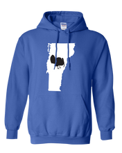 Load image into Gallery viewer, Pullover Hooded Sweatshirt Vermont Royal Turkey Vibrant Design High Quality Tight Knit Ring Spun Low Maintenance Cotton Printed With The Newest Available Color Transfer Technology