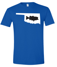 Load image into Gallery viewer, Short Sleeve T-Shirt Oklahoma Royal Large Mouth Bass Vibrant Design High Quality Tight Knit Ring Spun Low Maintenance Cotton Printed With The Newest Available Color Transfer Technology