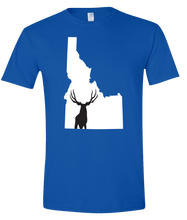 Load image into Gallery viewer, Short Sleeve T-Shirt Idaho Royal Mule Deer Vibrant Design High Quality Tight Knit Ring Spun Low Maintenance Cotton Printed With The Newest Available Color Transfer Technology