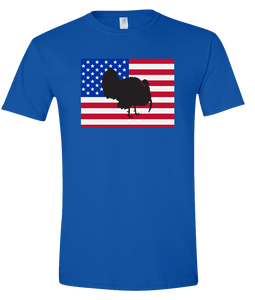 Short Sleeve T-Shirt Colorado Royal Turkey Vibrant Design High Quality Tight Knit Ring Spun Low Maintenance Cotton Printed With The Newest Available Color Transfer Technology