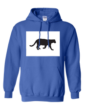 Load image into Gallery viewer, Pullover Hooded Sweatshirt Colorado Royal Mountain Lion Vibrant Design High Quality Tight Knit Ring Spun Low Maintenance Cotton Printed With The Newest Available Color Transfer Technology