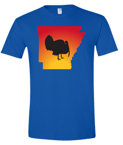 Short Sleeve T-Shirt Arkansas Royal Turkey Vibrant Design High Quality Tight Knit Ring Spun Low Maintenance Cotton Printed With The Newest Available Color Transfer Technology