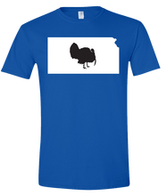 Load image into Gallery viewer, Short Sleeve T-Shirt Kansas Royal Turkey Vibrant Design High Quality Tight Knit Ring Spun Low Maintenance Cotton Printed With The Newest Available Color Transfer Technology