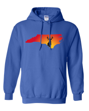 Load image into Gallery viewer, Pullover Hooded Sweatshirt North Carolina Royal Whitetail Deer Vibrant Design High Quality Tight Knit Ring Spun Low Maintenance Cotton Printed With The Newest Available Color Transfer Technology