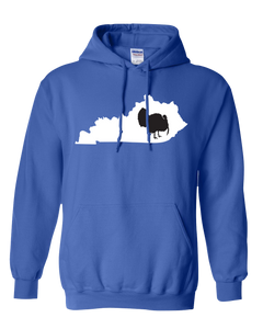 Pullover Hooded Sweatshirt Kentucky Royal Turkey Vibrant Design High Quality Tight Knit Ring Spun Low Maintenance Cotton Printed With The Newest Available Color Transfer Technology