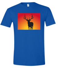 Load image into Gallery viewer, Short Sleeve T-Shirt Colorado Royal Elk Vibrant Design High Quality Tight Knit Ring Spun Low Maintenance Cotton Printed With The Newest Available Color Transfer Technology