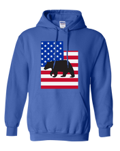 Load image into Gallery viewer, Pullover Hooded Sweatshirt Utah Royal Black Bear Vibrant Design High Quality Tight Knit Ring Spun Low Maintenance Cotton Printed With The Newest Available Color Transfer Technology