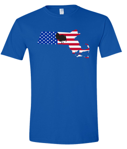 Short Sleeve T-Shirt Massachusetts Royal Turkey Vibrant Design High Quality Tight Knit Ring Spun Low Maintenance Cotton Printed With The Newest Available Color Transfer Technology