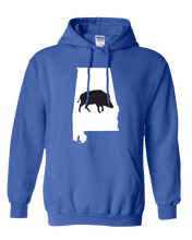 Load image into Gallery viewer, Pullover Hooded Sweatshirt Alabama Royal Wild Hog Vibrant Design High Quality Tight Knit Ring Spun Low Maintenance Cotton Printed With The Newest Available Color Transfer Technology