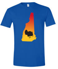 Load image into Gallery viewer, Short Sleeve T-Shirt New Hampshire Royal Turkey Vibrant Design High Quality Tight Knit Ring Spun Low Maintenance Cotton Printed With The Newest Available Color Transfer Technology