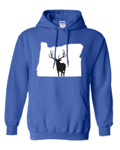Load image into Gallery viewer, Pullover Hooded Sweatshirt Oregon Royal Elk Vibrant Design High Quality Tight Knit Ring Spun Low Maintenance Cotton Printed With The Newest Available Color Transfer Technology
