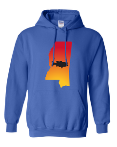Pullover Hooded Sweatshirt Mississippi Royal Large Mouth Bass Vibrant Design High Quality Tight Knit Ring Spun Low Maintenance Cotton Printed With The Newest Available Color Transfer Technology