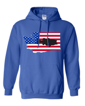 Load image into Gallery viewer, Pullover Hooded Sweatshirt Washington Royal Large Mouth Bass Vibrant Design High Quality Tight Knit Ring Spun Low Maintenance Cotton Printed With The Newest Available Color Transfer Technology