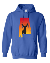 Load image into Gallery viewer, Pullover Hooded Sweatshirt Alabama Royal Whitetail Deer Vibrant Design High Quality Tight Knit Ring Spun Low Maintenance Cotton Printed With The Newest Available Color Transfer Technology