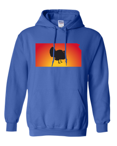 Pullover Hooded Sweatshirt Kansas Royal Turkey Vibrant Design High Quality Tight Knit Ring Spun Low Maintenance Cotton Printed With The Newest Available Color Transfer Technology
