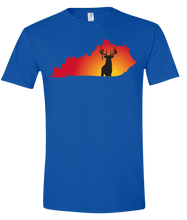 Load image into Gallery viewer, Short Sleeve T-Shirt Kentucky Royal Whitetail Deer Vibrant Design High Quality Tight Knit Ring Spun Low Maintenance Cotton Printed With The Newest Available Color Transfer Technology