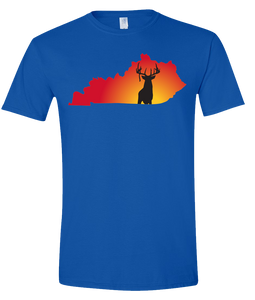 Short Sleeve T-Shirt Kentucky Royal Whitetail Deer Vibrant Design High Quality Tight Knit Ring Spun Low Maintenance Cotton Printed With The Newest Available Color Transfer Technology
