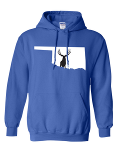 Pullover Hooded Sweatshirt Oklahoma Royal Mule Deer Vibrant Design High Quality Tight Knit Ring Spun Low Maintenance Cotton Printed With The Newest Available Color Transfer Technology