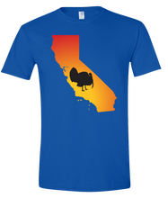 Load image into Gallery viewer, Short Sleeve T-Shirt California Royal Turkey Vibrant Design High Quality Tight Knit Ring Spun Low Maintenance Cotton Printed With The Newest Available Color Transfer Technology