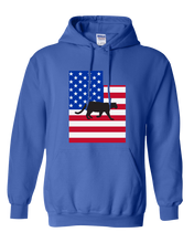 Load image into Gallery viewer, Pullover Hooded Sweatshirt Utah Royal Mountain Lion Vibrant Design High Quality Tight Knit Ring Spun Low Maintenance Cotton Printed With The Newest Available Color Transfer Technology