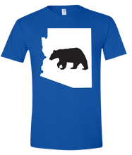 Load image into Gallery viewer, Short Sleeve T-Shirt Arizona Royal Black Bear Vibrant Design High Quality Tight Knit Ring Spun Low Maintenance Cotton Printed With The Newest Available Color Transfer Technology