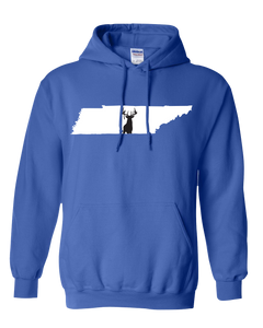 Pullover Hooded Sweatshirt Tennessee Royal Whitetail Deer Vibrant Design High Quality Tight Knit Ring Spun Low Maintenance Cotton Printed With The Newest Available Color Transfer Technology