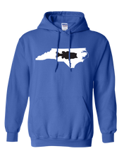 Load image into Gallery viewer, Pullover Hooded Sweatshirt North Carolina Royal Large Mouth Bass Vibrant Design High Quality Tight Knit Ring Spun Low Maintenance Cotton Printed With The Newest Available Color Transfer Technology