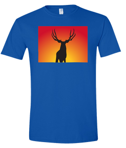Short Sleeve T-Shirt Colorado Royal Mule Deer Vibrant Design High Quality Tight Knit Ring Spun Low Maintenance Cotton Printed With The Newest Available Color Transfer Technology