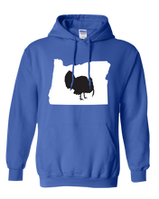 Load image into Gallery viewer, Pullover Hooded Sweatshirt Oregon Royal Turkey Vibrant Design High Quality Tight Knit Ring Spun Low Maintenance Cotton Printed With The Newest Available Color Transfer Technology