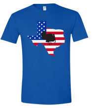 Load image into Gallery viewer, Short Sleeve T-Shirt Texas Royal Turkey Vibrant Design High Quality Tight Knit Ring Spun Low Maintenance Cotton Printed With The Newest Available Color Transfer Technology